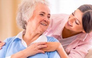 24 Stunden Pflege einer alten Dame